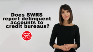 Does SRS report delinquent accounts to the credit bureaus?